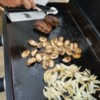 grilling on Blackstone